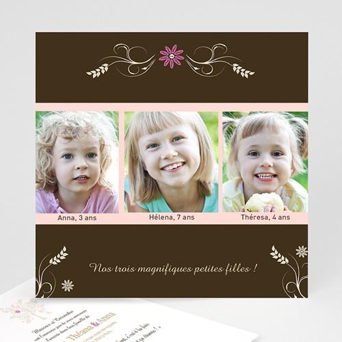 Faire-part Adoption Fille - Frissons de l'adoption 1110