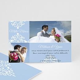 Remerciements Mariage Personnalisés - Design Royal - bleu - 3