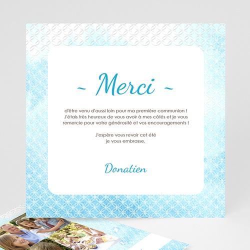 Remerciements Communion Garçon - Effet d'eau Bénite 12574