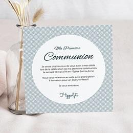 Faire-part Communion Garçon - Etat de Grâce - 3