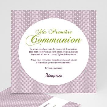Faire-part Communion Fille - Action de Grâce - 3
