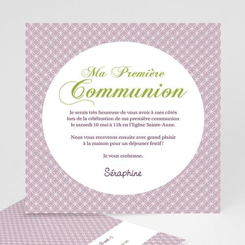 Faire-part Communion Fille - Action de Grâce 12604