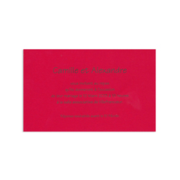 Cartons d'Invitation traditionnels - Rouge - 2