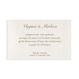 Cartons d'Invitation traditionnels - Ecru - 2