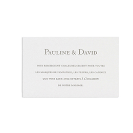 Cartons d'Invitation traditionnels - Blanc - 2
