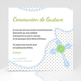 Faire-part Communion Garçon - Rosaire Bleu - 3