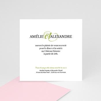Cartons d'Invitation Personnalisés - Mariage Printanier - 2