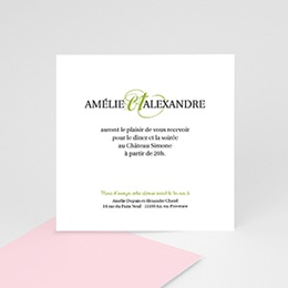 Carton Invitation Personnalisé - Mariage Printanier - 2