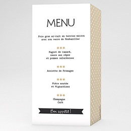 Menus Mariage Personnaliss - Graphic Chic - 3