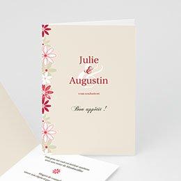 Menu Mariage Personnalisé - Fleurs du Temps - 1