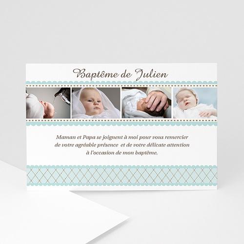 Remerciements Baptême Garçon -  Un brin désuet - Bleu 1378