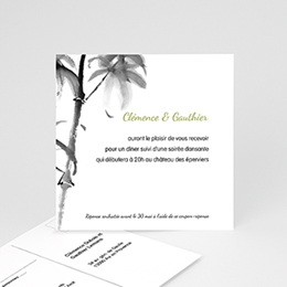 Carton Invitation Personnalisé - Aquarelle Chinoise - 2