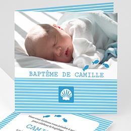 Faire-part Baptême Garçon - Marin - 1