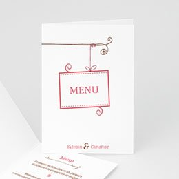 Menus Mariage Personnaliss - vintage cottage - 3