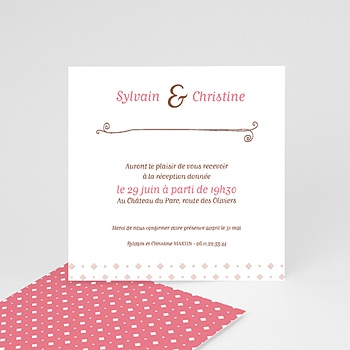 Cartons d'Invitation Personnalisés - vintage cottage - 2