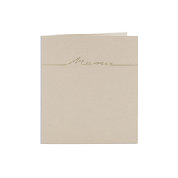 Menus Mariage traditionnels - Taupe dorure Or - 3