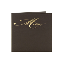 Menus Mariage traditionnels - Menu marron dorure Or - 3
