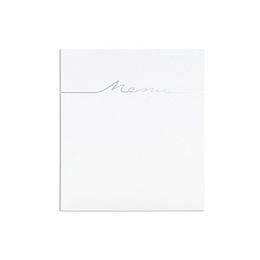 Menus Mariage traditionnels - blanc arabesque relief et coeur - 3
