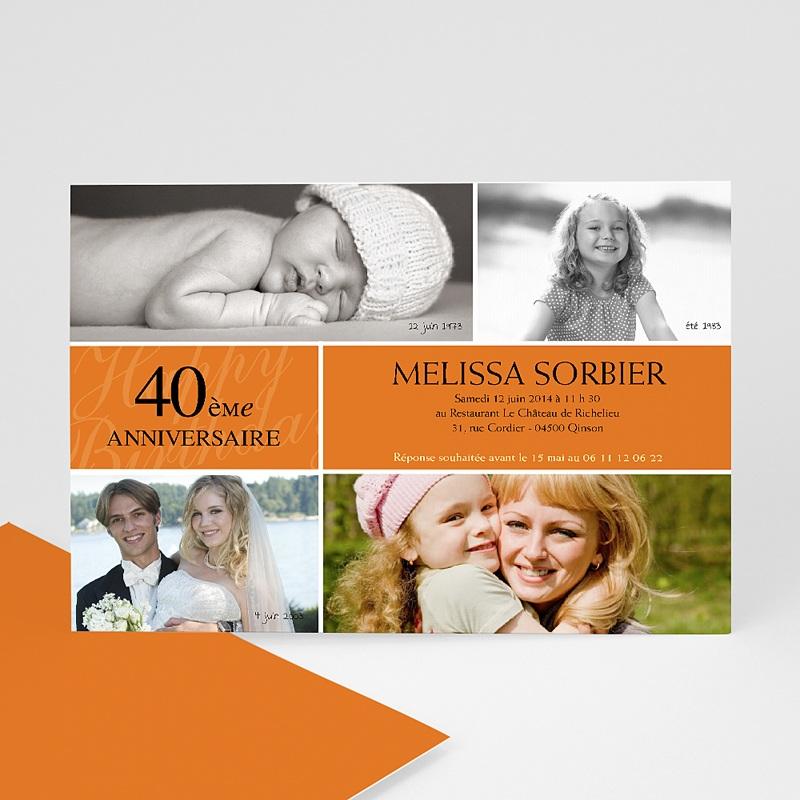 invitation anniversaire adulte mine orange. Black Bedroom Furniture Sets. Home Design Ideas
