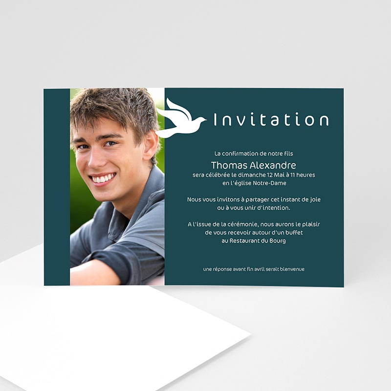 Carte invitation de Confirmation personnalisée   Carteland.com