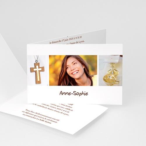 Invitation Confirmation  - Communion Fond Blanc 14662