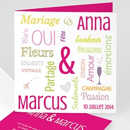 Faire-part Mariage Personnaliss - Tag Cloud - 3