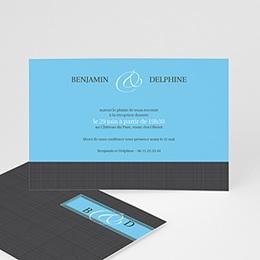 Carton Invitation Personnalisé - Gris d'Amour - 3