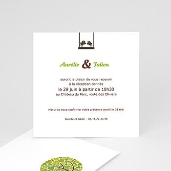 Cartons d'Invitation Personnalisés - Balançoire d'Amour - 2
