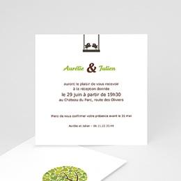 Carton Invitation Personnalisé - Balançoire d'Amour - 2