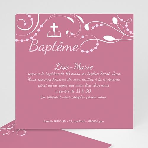 Faire-part Baptême Fille - Bénédictine 14800