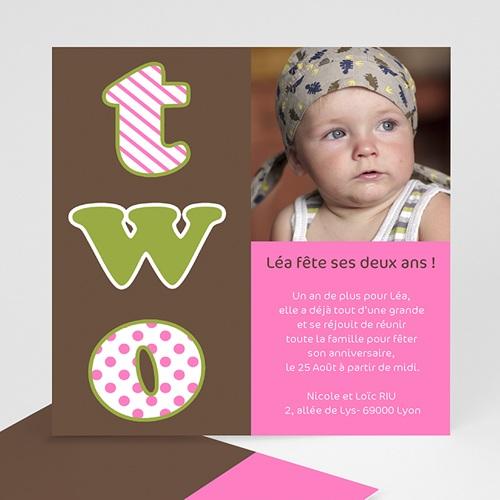 Invitations anniversaire fille 2 ans - Anniversaire fille 2 ans ...