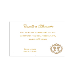 Cartons d'Invitation traditionnels - Remerciements Grand Si&egrave;cle - 1