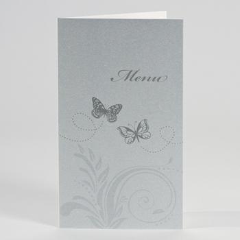 Menus Mariage traditionnels - Menu Papillons irisé - 1