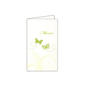 Menus Mariage traditionnels -  Papillons et arabesques  - 1