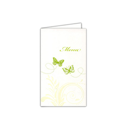 Menus Mariage traditionnels -  Papillons et arabesques  - 1