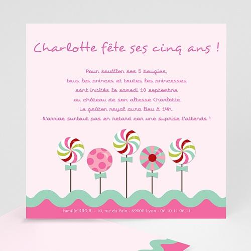 Invitations Anniversaire Fille - Sucre d'orge 1522