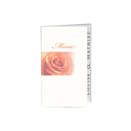 Menus Mariage traditionnels - Rose Orange - 202.103 - 1