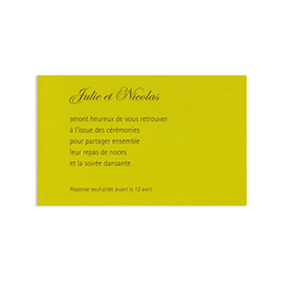 Cartons d'Invitation traditionnels - Jaune moutarde - 1