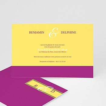Cartons d'Invitation Personnalisés - Mauve d'envie - 3
