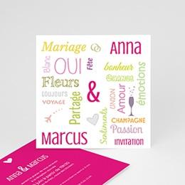 Carton Invitation Personnalisé - Tag Cloud - 2