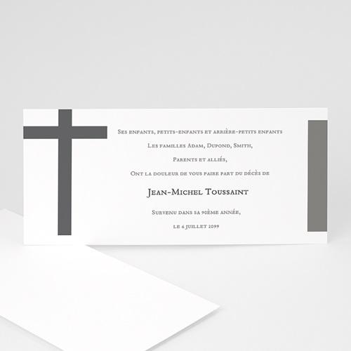 Remerciements Décès Chrétien - La croix endeuillée 15474