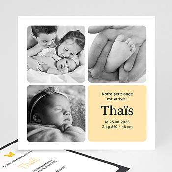 Cartes Multi-photos 3 & + - Carré Jaune - 1