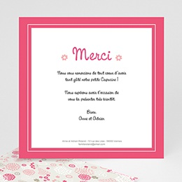 Remerciements Naissance Fille - Capucine - 1