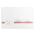blanc style croco avec ruban rose - 3