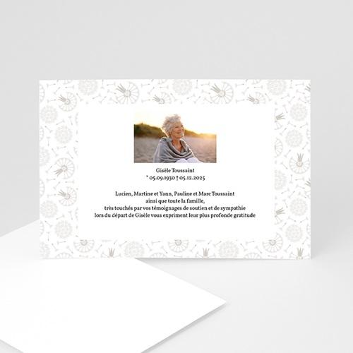 Remerciements Décès Universel - Condoléances - Dandelion gris 15805