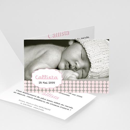 Faire-Part Naissance Fille - Petit bonnet 16005