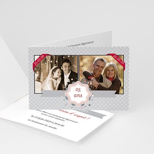 Invitations Anniversaire Mariage - 25 ans d'Amour 16056