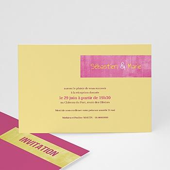 Cartons d'Invitation Personnalisés - Mariés Fluo - 1
