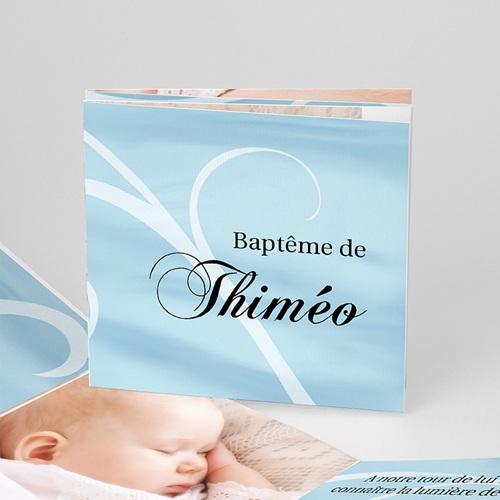 Faire-part Baptême Fille - Thiméo - quatre photos 16274