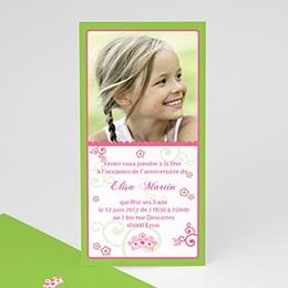 Invitations Anniversaire Fille - Jour de Gloire - 3